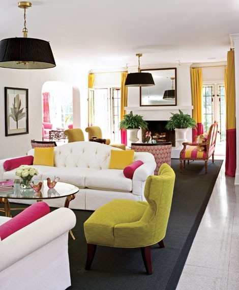 Bright Colors Living Room: Top 5 Ways To Keep Your Balance In Design ~