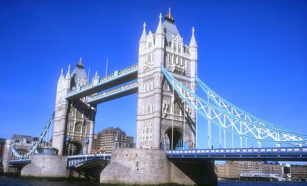 the tower bridge in england Tower bridge crosses the thames from the tower of london in the north to shad thames on the south bank you can walk or drive across it, but for the best views, visit.