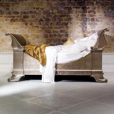White Sleigh Bed Queen
