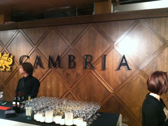 At the Toronto Cambria Showroom for a pre-party party!