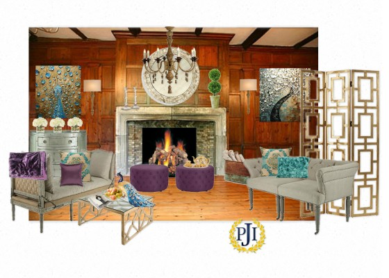 A virtual interpretation by Patti Johnson Interiors. The actual design and decoration of this particular space will be done by Jon Blunt of Luken Interiors. Come visit when the ShowHouse opens in April to see what he creates.