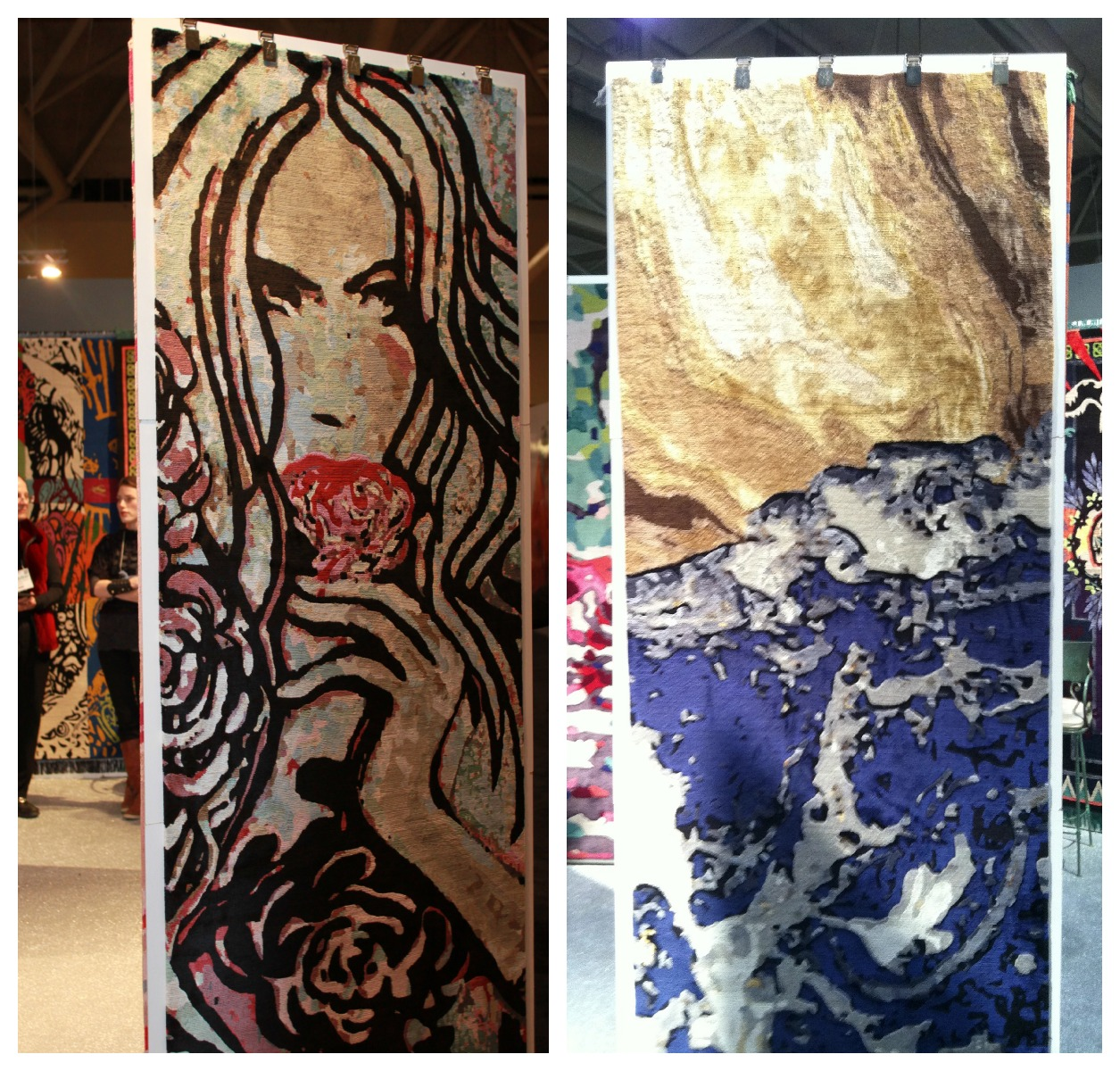 Some Very Impressive Rug Art. I Love Rugs And Usually Visit These Exhibits  First,