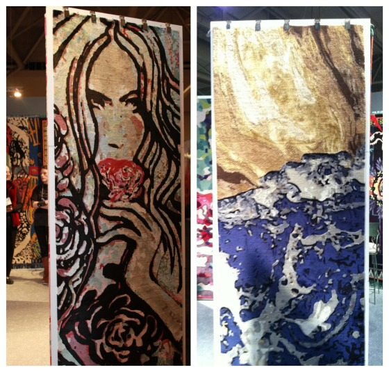 Some very impressive rug art. I love rugs and usually visit these exhibits first, which i did actually.