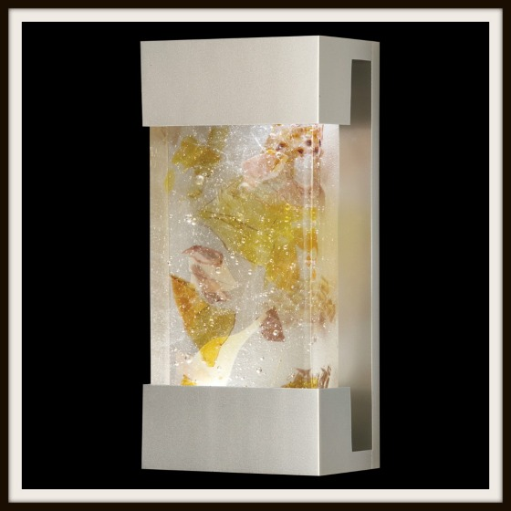 Glass Sconce by Fine Art Lamps with crystal shards