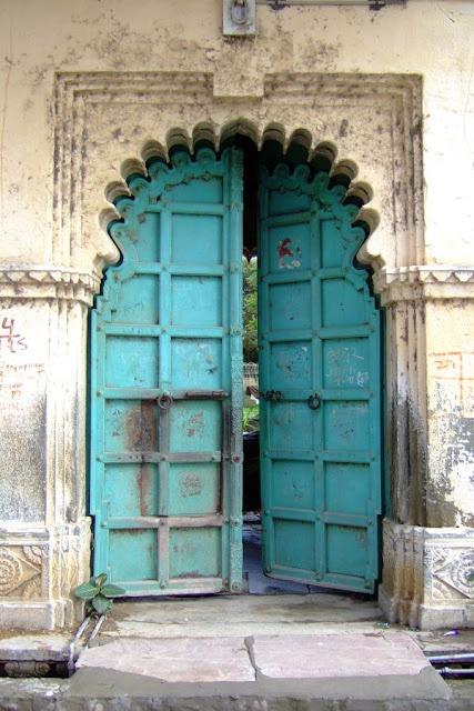 carved lintel door