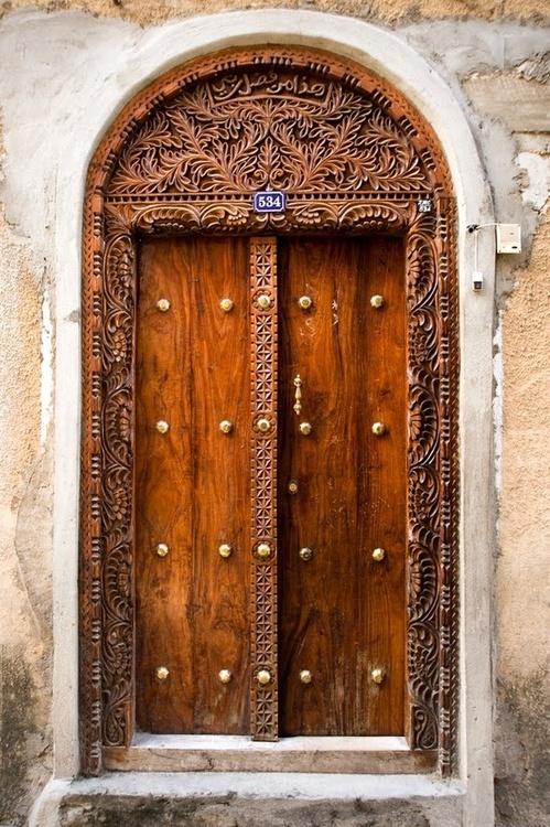 detailed wooden doors
