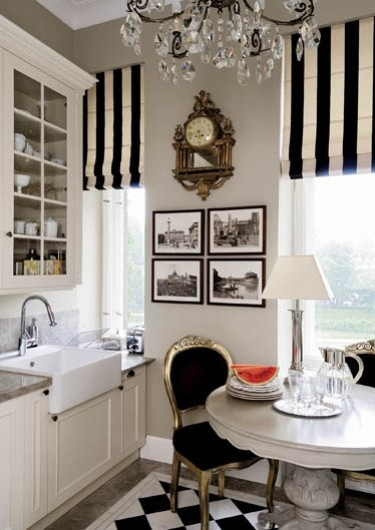 Blk & White small kitchen