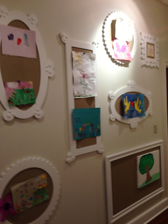 Artwork by the children living in the Target House also adorn the walls in multiple hallways.