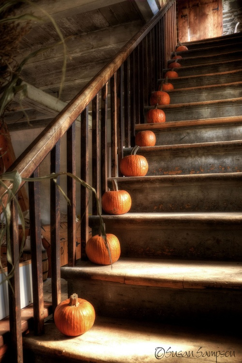autumn staircase