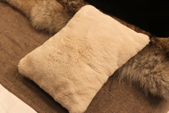 Caroline Furs Small Pillow