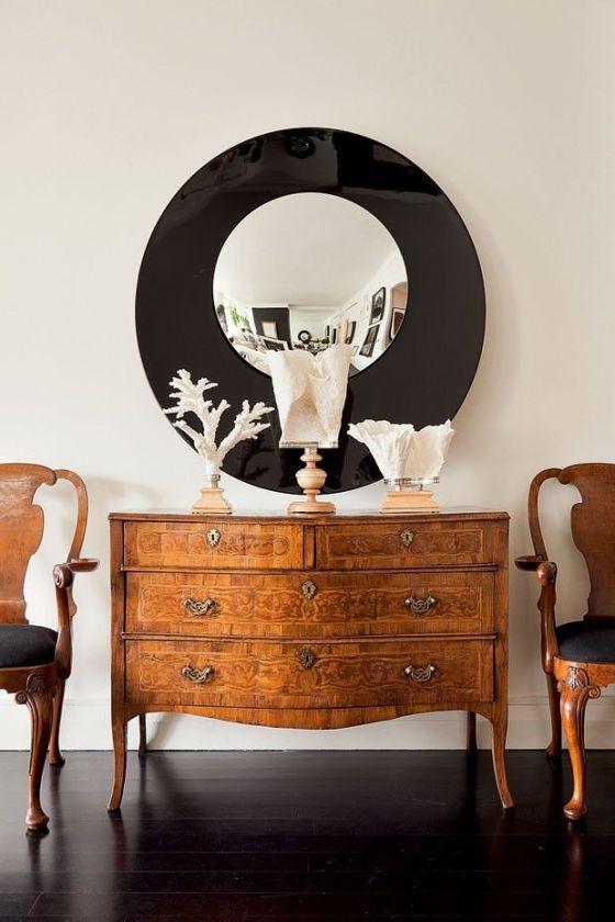 mod mirror w antiques