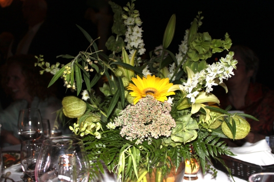 Lovely centerpieces adorned the tables under the great tent~