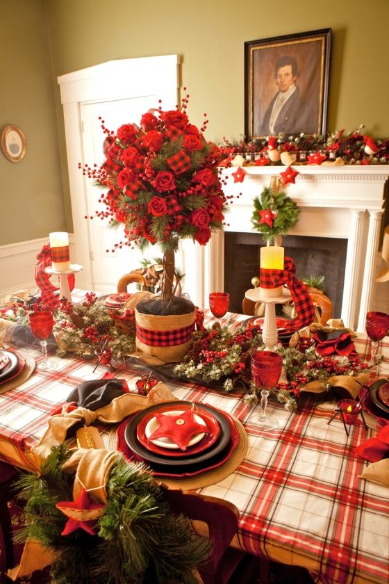 Here's one of several Holiday Table settings I decorated for the Historic Glendower Mansion in Downton Lebanon, Ohio which Opens to the public on December 7th, 2013!  I chose to add a little black to this theme this year. Each year brings different themes.