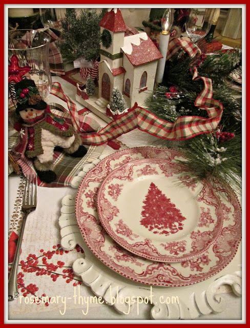Snowman red white table