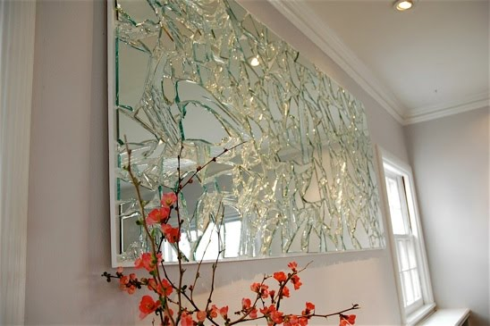 broken crackle mirror