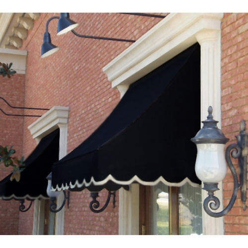 awning black scalloped