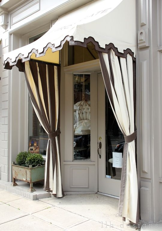 Awning store front 2 tone