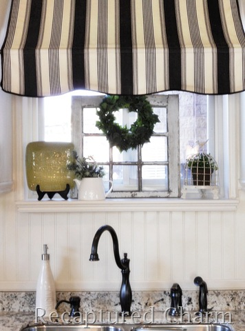 Awning Striped over sink