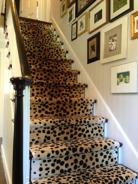 Animal Print Stair runner.
