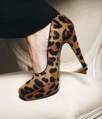prada animal print pump